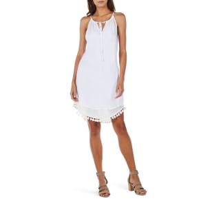 Women's Michael Stars Tassel Trim Tank Dress, Size Medium - White