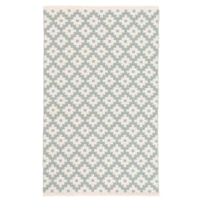 Dash & Albert 'Samode' Indoor/Outdoor Rug, Size 6ft 0in X 9ft 0in - Blue