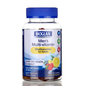 Bioglan Men's Vitagummies 60 Chews - 60 Chewables, Blue
