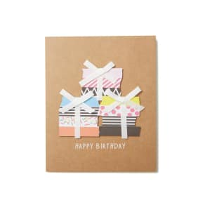 Typo - Embellishment Card - Ribbon Presents