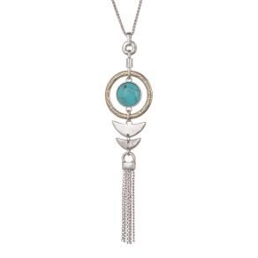 Turquoise Fish Pendant Necklace