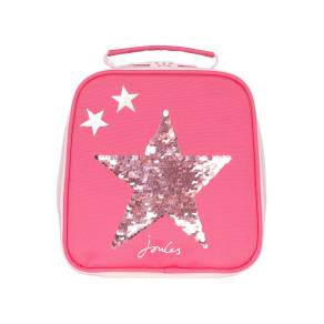 Joules Girls Munchbag With Sequin Star, Pink