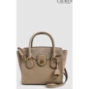 Womens Lauren Ralph Lauren Taupe Suede Tote Bag -  Mink