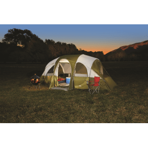 Northwest Territory Eagle River 18' X 10', 8 Person Tent With Quick Camp Insta-Frame, Green & Light Gray