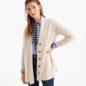 Cashmere Cardigan Sweater With Shawl Collar