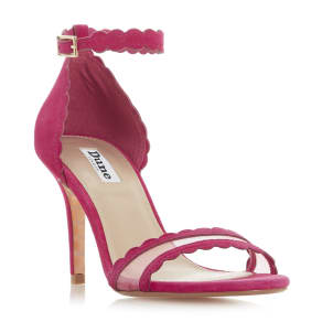 Maam Scalloped Trim Two Part Mid Heel Sandal