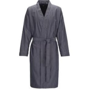 Dressing Gown in Lightweight Cotton Jacquard