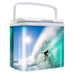 Retro 24 Can Cooler - Surfing, Multi-Colored