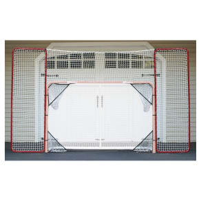 Ez Goal Hockey Backstop Rebounder With Targets, Red