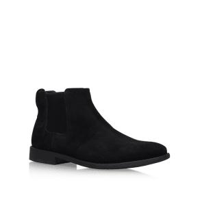 Kg Kurt Geiger Black 'Guilford' Flat Chelsea Boots