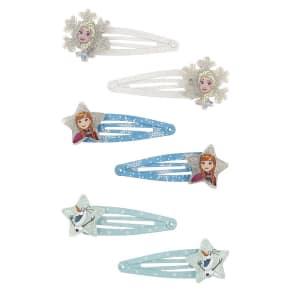 Disney Frozen Glitter Snap Clips 6s
