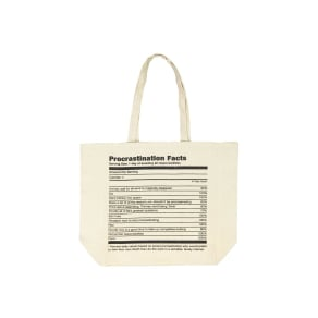 Foundation - Typo Difference Tote Bag - Procrastination Facts
