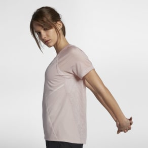 Nike Dri-Fit Miler Women's Short-Sleeve Running Top - Pink