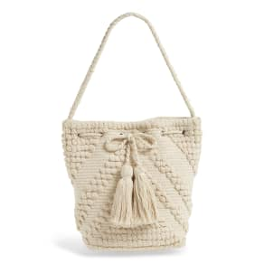 Sole Society Fabric Bucket Bag - Ivory