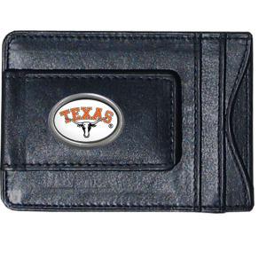 Siskiyou Texas Longhorns Ncaa Magnetic Money Clip and Card Holder, Men's