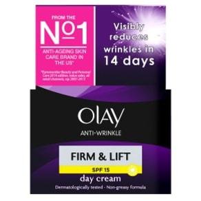 Olay Anti-Wrinkle Firm & Lift Moisturiser Day Cream Spf 15