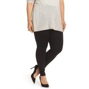 Plus Size Women's Lysse Center Seam Ponte Leggings, Size 3x - Black