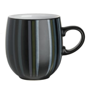 Denby Black and Grey Glazed 'Jet' Mug