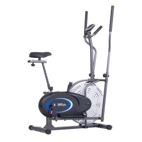 Body Rider 2-In-1 Cardio Dual Trainer (Elliptical and Upright Bike), Black