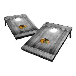 Chicago Blackhawks Wild Sports 2x3 Rustic Wooden Plaque Gray Wash Tailgate Toss