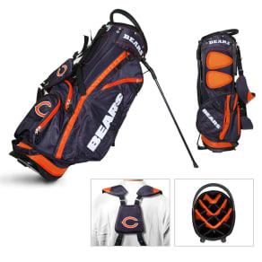 Team Golf Chicago Bears Nfl Fairway Stand Golf Bag, Blue/Orange