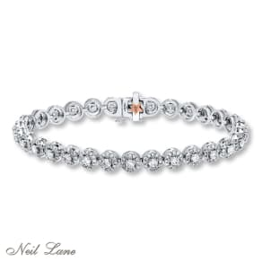 Neil Lane Bracelet 4 Ct Tw Diamonds 14k White Gold- Tennis