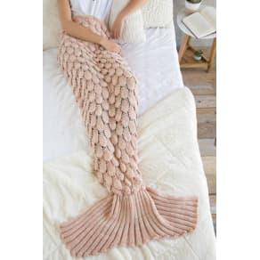 Blush Cozy Mermaid Blanket