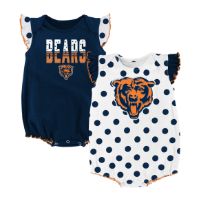 Outerstuff Babies' Chicago Bears Polka Fan 2 Piece Creeper Set