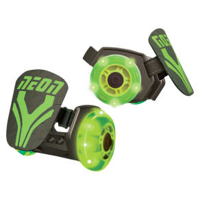 Yvolution Kids' Neon Street Rollers Heel Wheels - Green