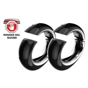 Binatone Black Twin Eclipse Plus Cordless Phone With Answering Machine Single