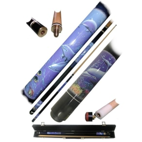Trademark Dolphin Pool Cue Stick - 2pc With Case
