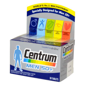 Centrum Men 50+ Multivitamin 30 Tablets - 30Tablets