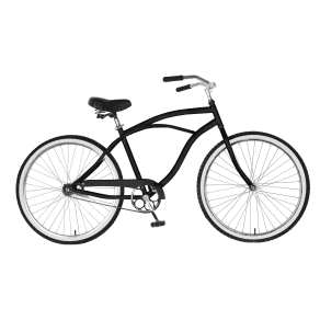Cycle Force Group Cycle Force 26 Inch Mens Cruiser Bike, Black