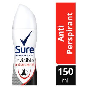 Sure Women Invisible Antibacterial Anti-Perspirant Deodorant Aerosol 150ml