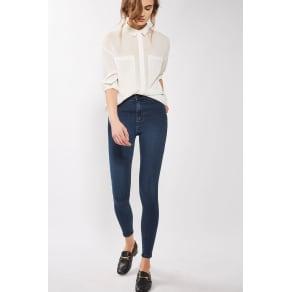 Womens Moto True Blue Joni Jeans