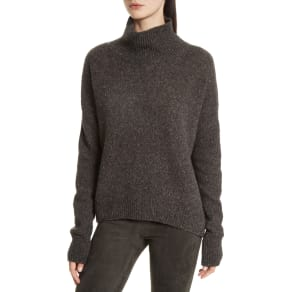 Women's Vince Cashmere Turtleneck Sweater, Size Large - Grey