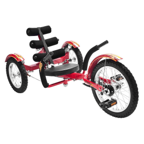 Mobo Youth Mobito 16 Three Wheeled Cruiser Tricycle - Red