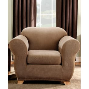 Sure Fit Stretch Stripe 2-Piece Chair Slipcover Bedding