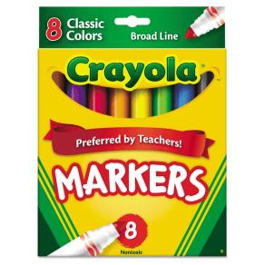 Crayola Markers Broadline 8ct Classic, Multi-Colored