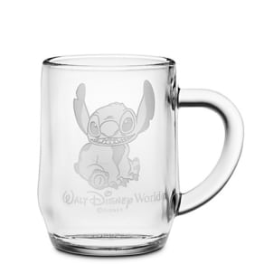 Stitch Glass Mug by Arribas - Personalizable