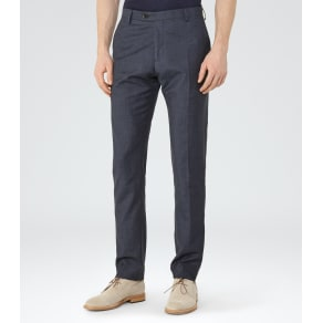 Reiss Alfred T - Slim-Fit Trousers in Blue