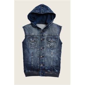 True Religion Dylan Toddler/Little Kids Vest - Dark Crinkle