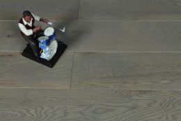 Natural Engineered Oak Sahara Grey Brushed UV Lacquered 15/4mm By 220mm By 2200mm