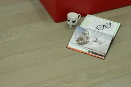 Natural Engineered Flooring Oak UK Grey Brushed UV Oiled 15/4mm By 220mm By 1900mm