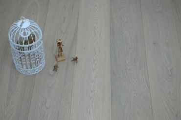 Select Engineered Oak Click Paris White Brushed UV Oiled 14/3mm By 189mm By 1860mm