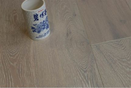 Natural Engineered Flooring Oak Brushed White UV Oiled 15/4mm By 240mm By 2200mm