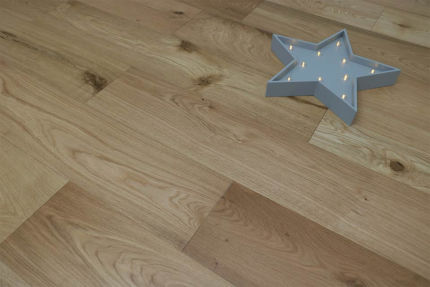 Natural Engineered Flooring Oak UV Oiled 10/3mm By 190mm By 300-1500mm