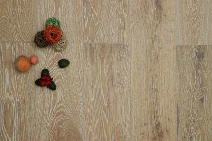 Natural Engineered Flooring Oak White Washed UV Lacquered 14/3mm By 150mm By 400-1500mm