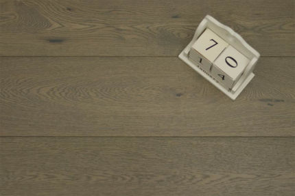 Natural Engineered Oak Sahara Grey Brushed UV Lacquered 14/2.5mm By 189mm By 1860mm