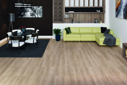 Luanda Light Beige Oak Laminate Flooring 8mm By 193mm By 1380mm